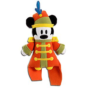 Pook-a-Looz Bandleader Mickey Mouse Plush Toy -- 12''