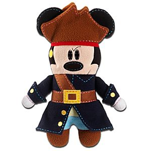 Pook-a-Looz Pirates of the Caribbean Mickey Mouse Plush Toy -- 12''