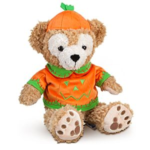 Halloween Pumpkin Duffy the Disney Bear Plush Toy -- 12 H