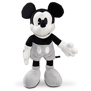 Black and Gray Mickey Mouse Plush Toy -- 11 H