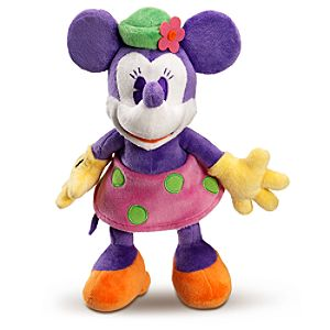 Purple and Orange Minnie Mouse Plush Toy -- 10 H
