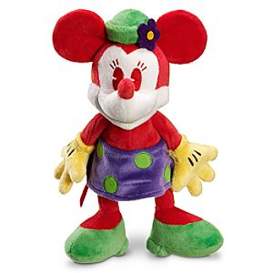 Red and Green Minnie Mouse Plush Toy -- 10 H