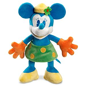 Blue and Yellow Minnie Mouse Plush Toy -- 10 H