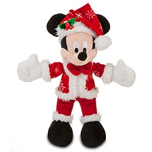 Santa Mickey Mouse Plush -- 9