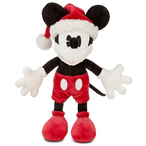 Classic Santa Mickey Mouse Plush -- 9