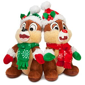 Santa Chip an Dale Plush Set -- 7