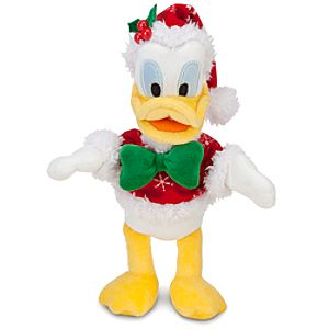 Santa Donald Duck Plush -- 9