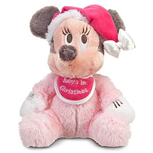 Babys First Christmas Minnie Mouse Plush -- 9 H