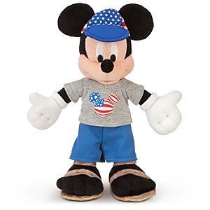 American Adventure World Showcase Mickey Mouse Plush -- 10 H