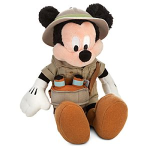 Safari Mickey Mouse Plush -- 10