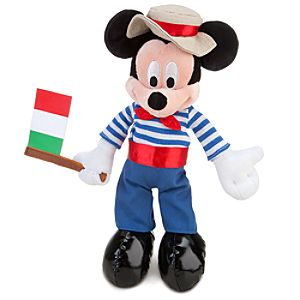 Italy World Showcase Mickey Mouse Plush -- 10