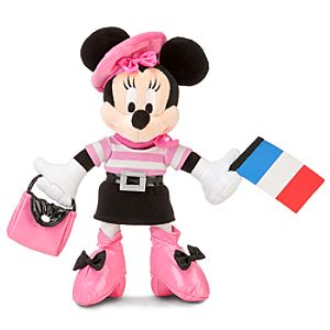 France World Showcase Minnie Mouse Plush -- 10