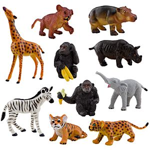 Disneys Animal Kingdom Figure Set with Tote