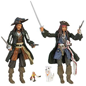 Pirates of the Caribbean Captain Jack Sparrow and Captain Barbossa Action Figure Set