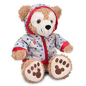 2012 Fleece Hoodie Duffy the Disney Bear Plush Toy -- 12 H