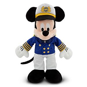 Disney Cruise Line Captain Mickey Mouse Plush -- 15 H