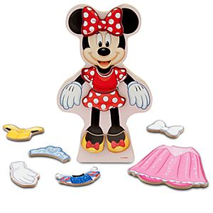 Minnie Mouse Magnetic Dress-Up Set - Wood