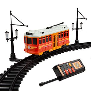 Disney California Adventure Red Car Trolley Remote Control Play Set