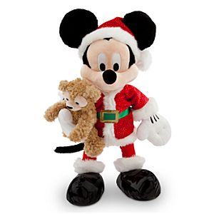 Mickey Mouse Santa Plush with Duffy the Disney Bear - 18