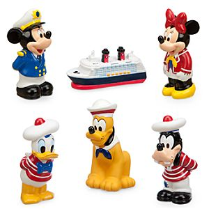 Mickey Mouse and Friends Squeeze Toy Set - Disney Cruise Line