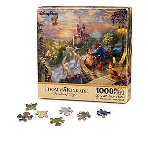 Beauty and the Beast Falling in Love Puzzle by Thomas Kinkade