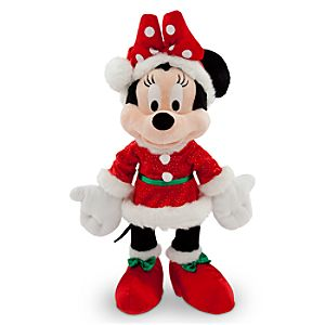 Santa Minnie Mouse Plush - 15