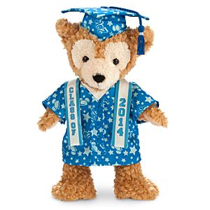 Duffy the Disney Bear Graduate Plush - Class of 2014 - Medium - 12