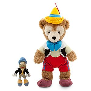 Duffy the Disney Bear Pinocchio Costume -17 - with Jiminy Cricket Plush - 7