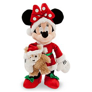 Santa Minnie Mouse Plush with Duffy the Disney Bear - Medium - 16