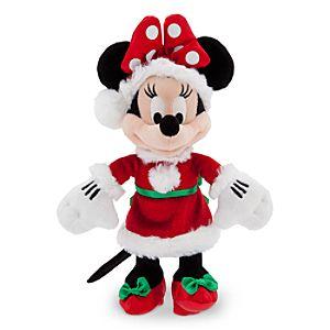 "Santa Minnie Mouse Plush - Small - 9"""