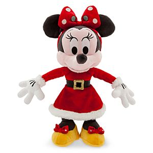 Santa Minnie Mouse Plush - Small - 9