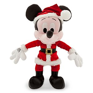 Santa Mickey Mouse Plush - Small - 9