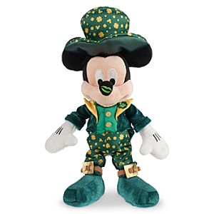 Mickey Mouse Plush - St. Patricks Day - Small - 9