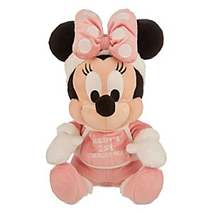 Minnie Mouse Holiday Plush - Babys 1st Christmas - Small - 9