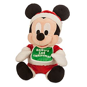 Mickey Mouse Holiday Plush - Babys 1st Christmas - Small - 9