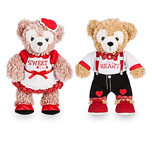 Duffy and ShellieMay the Disney Bears Plush Set - Valentines Day - Small  - 9