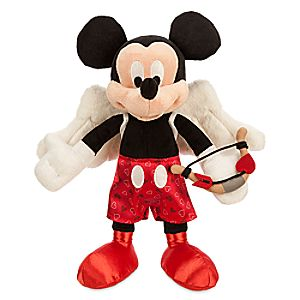 Mickey Mouse Cupid Plush - Valentines Day - Small - 9