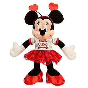 Minnie Mouse ''I'm With Cupid'' Plush - Valentine's Day - Small - 9''