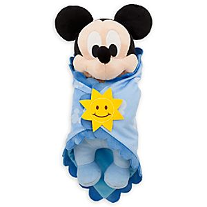 Disneys Babies Mickey Mouse Plush Doll and Blanket - Small - 10