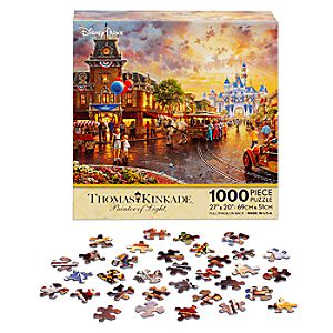 Disneyland 60th Anniversary Jigsaw Puzzle by Thomas Kinkade