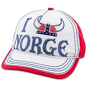 Epcot World Showcase Norway I Helmet Norge Baseball Cap for Adults