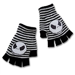 Fingerless Jack Skellington Gloves