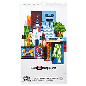 Walt Disney World Attraction Poster Calendar - 2014