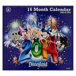 Disneyland 16 Month Calendar