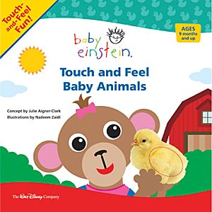Baby Einstein Touch and Feel Baby Animals Book