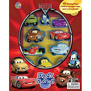 Cars 2 Stuck on Stories Book and Playset