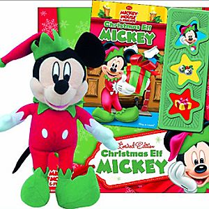 Mickey Mouse: Limited Edition Christmas Elf Mickey Book and Plush Set