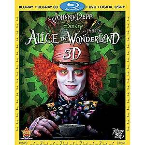 Alice In Wonderland 4-Disc Blu-ray 3D, Blu-ray, DVD and Digital File