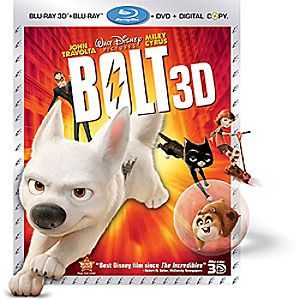 Bolt 4-Disc Blu-ray, 3D Blu-ray, DVD and Digital File