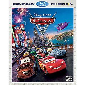 Cars 2 5-Disc Blu-ray, 3D Blu-ray, DVD, Digital File